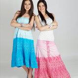 новинка Нежная модная макси юбка -сарафан