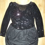 Платье вечернее коктейльное верх паетки низ юбка тюльпан 46-48