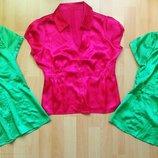 Блуза женская тениска рубашка с коротким рукавом OGGI атласная