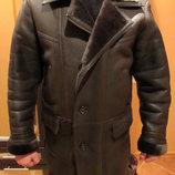 Мужская кожаная зимняя куртка,дублёнка р.48-50.Доставка бесплатная.
