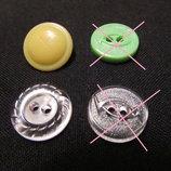 Пластиковые пуговицы 18 мм диаметром пр-во Ссср .