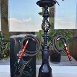 Красавец кальян на две трубки чёрный