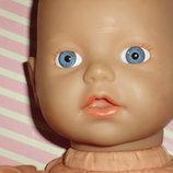 кукла-пупс веселое купание Brigitte Leman Zapf Creation Германия оригинал клеймо номер 34 см