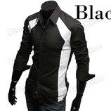 Мужская черно белая рубашка грудь 51