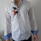 Мужская стрейч рубашка с длинными рукавами Италия