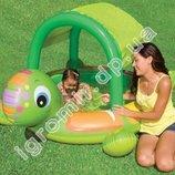 Бассейн детский надувнойc навесом Черепаха Intex 57410