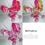 Коляска трансформер с люлькой для кукол Melogo 9333 расцветки разные