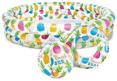 Детский надувной бассейн круг мяч 51 см Intex 59469 132-28 см