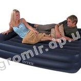 Надувная кровать матрас велюр Intex 66720 157х203х47 см