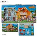 Домик Happy Family , флоксовые животные, в кор. 65 34 17 см, 012-03