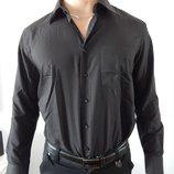 Черная классическая мужская рубашка