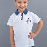 Детская футболка поло лакоста с воротником для мальчика 92 98 104 110 116 122 128 белый