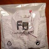 Новая белая классическая офисная блузка в упаковке