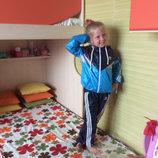 Детские Спортивные Костюмы для детей Размеры 98-152 Плащевка на сетке