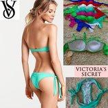 Купальники Victoria Secret трусики бразилиана,лиф бандо с пуш ап в наличии