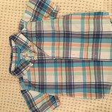 детская летняя рубашка Carters,18 месяцев,отличное состояние