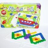 Мозаика 160 деталей 2см 6 цветов Гвоздик в коробке Max Group 086