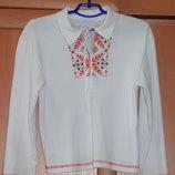 Рубашка и вышиванка на 6-7 лет р.124