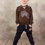 Брюки штаны для мальчика джинсового типа синий