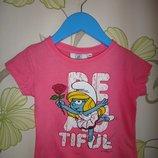 Розовая футболка Tvmania 104 см, 4 года
