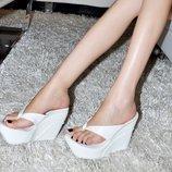 шлепки женские летние Хит танкетке платформе сланцы сандали вьетнамки