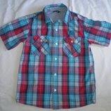 рубашка тениска George 9-10 лет 135-140см 100% котон