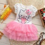 Платье Hello Kitty с пышной фатиновой юбочкой 3 цвета