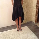 Вечернее,выпускное атласное платье