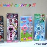Детские наручные часы-проектор Свинка Пеппа , Монстер Хай , Звездные войны , Холодное сердце .