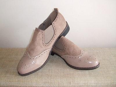 Бежевые Стильные ботинки туфли Ботильоны Лоферы Оксфорды Моднице