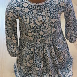 платье с длинным рукавом F&F 3-4года