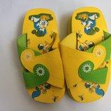 Шлепанцы Лето желтые