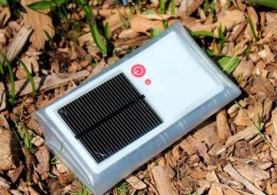 Фонарик на солнечной батарее для туризма и дач