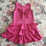 2-4 год. H&M. Ягодное платьице. Пышное.