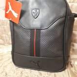 Спортивная сумка Puma Ferrari , черная и красная