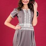 7-4 Короткое нарядное женское платье
