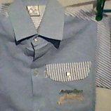 Джинсовые рубашки на 2-4 года р. 26-36, новые, хлопок, детские,
