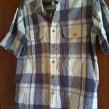 рубашка мужская М-L в клетку короткий рукав