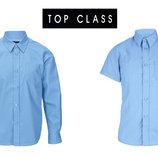 Рубашки сорочки шведки школьные голубые для школы, бренд Top Class Англия