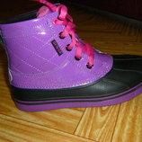 Синие и розовые ботинки, кроссовки Crocs 20,5, 21,5 и 22 см, размер 33 и 34