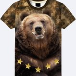 3D футболка Медведь