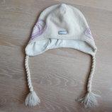 шапка детская 54 р теплая Шерсть Фирменная сердечки reima