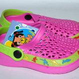 Кроксы/ пляжная обувь для девочек Шалунишка р.24-29