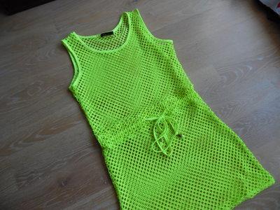 платье женское салатовое яркое неон порео сарафан фирменное оригинал