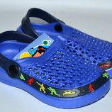 Кроксы/ пляжная обувь для мальчиков Шалунишка 24-29