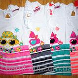 Нежные футболочки с бантиком для юных принцесс
