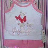 Набор для девочки майка с шортами Fly р. 62, 68.