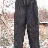 брюки зимние лыжные как новые L очень теплые на морозы