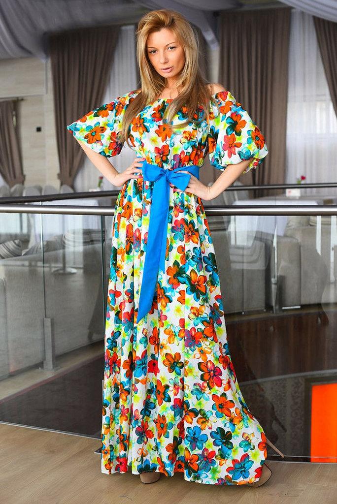 Длинные платья летние турция