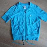 Кофта голубая махровая 10 лет спортивная кофта Adidas Адидас